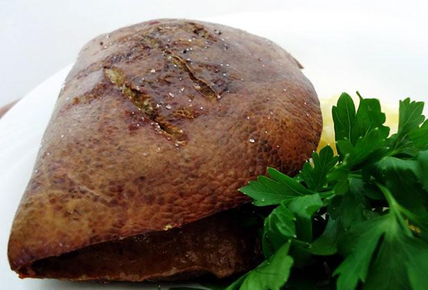 Свински черен дроб на скара (във фолио)