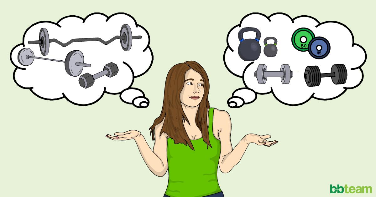 Жените и тренировките с тежести
