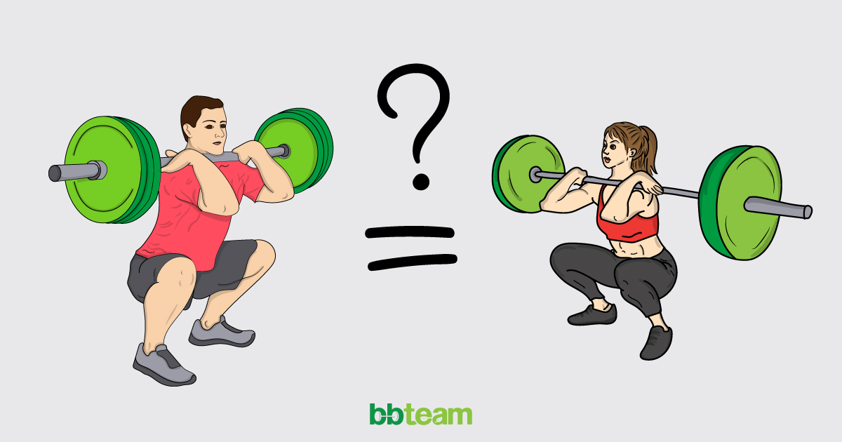 Тренировки за мъже срещу тренировки за жени