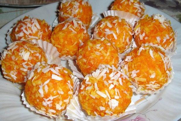 Бонбони с моркови и кокос