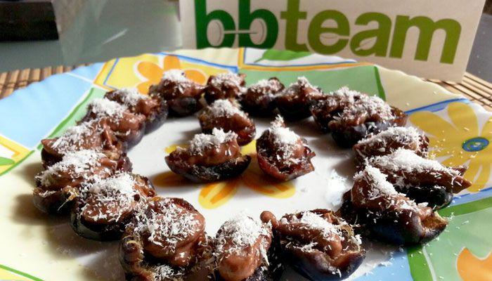 Бонбони от фурми с шоколадов пълнеж