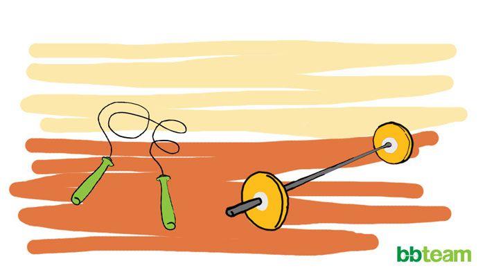 Скокове на въже и щангистко обръщане