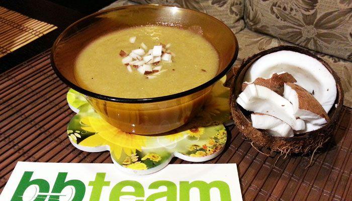 Люта крем супа със зеленчуци, джинджифил и кокос