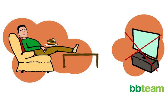 Не се хранете, докато гледате телевизия…