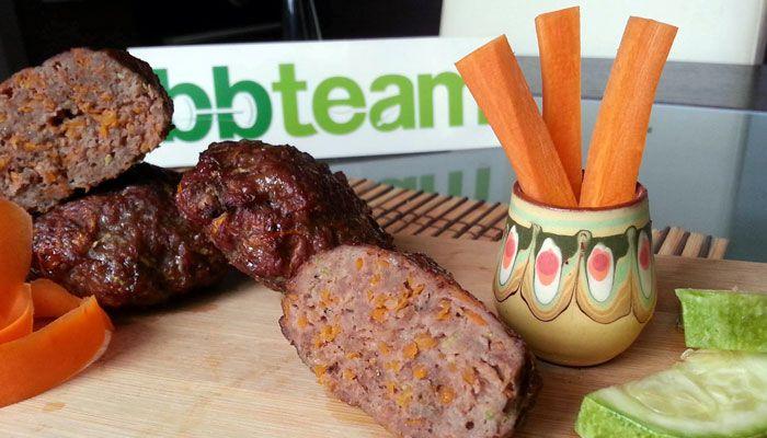 Кюфтета от телешко месо и зеленчуци