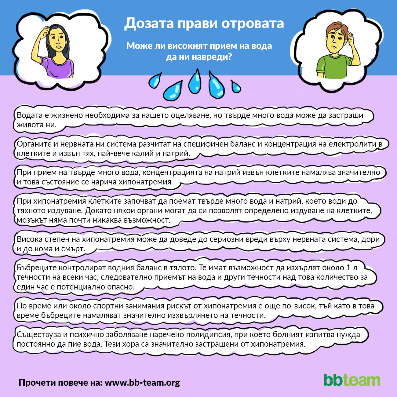 Дозата прави отровата: вода [инфографика]