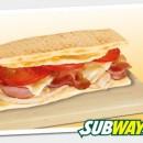 Subway сандвич с пуешко, бекон, пушена шунка, яйце и кашкавал