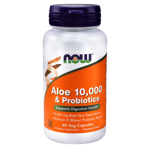 NOW Foods Aloe Vera 10000 & Probiotics