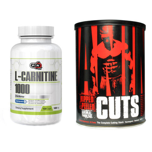 Animal Cuts + Pure L-Carnitine 1000