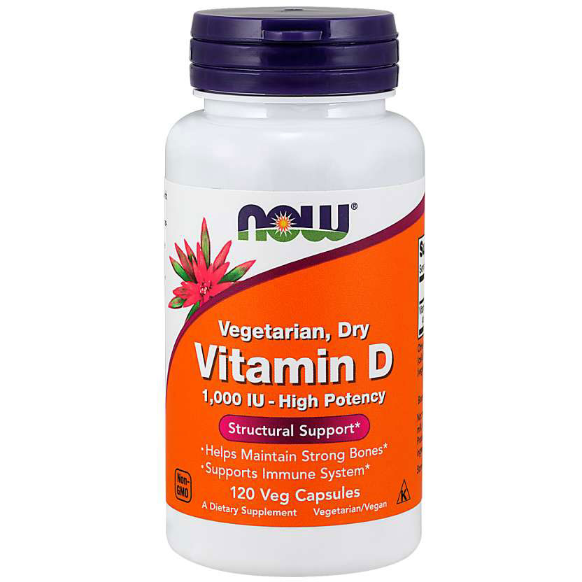 NOW Foods Витамин D Vegetarian