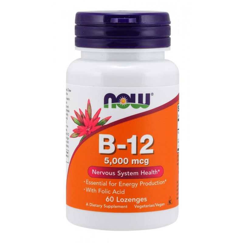 NOW Foods Витамин B-12 + Folic Acid