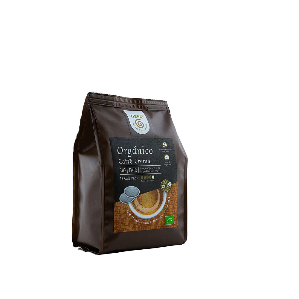 GEPA Био кафе Organico Crema Coffee Pods