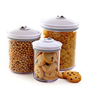 FoodSaver Комплект от 3 кръгли кутии за съхранение на продукти и храна