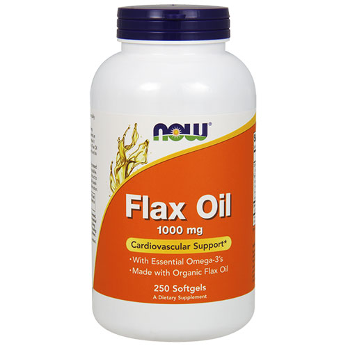 NOW Foods Flax Seed Oil (organic)