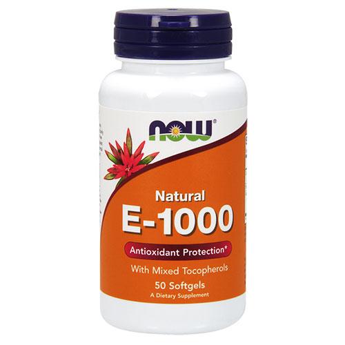 NOW Foods Витамин Е-1000 IU