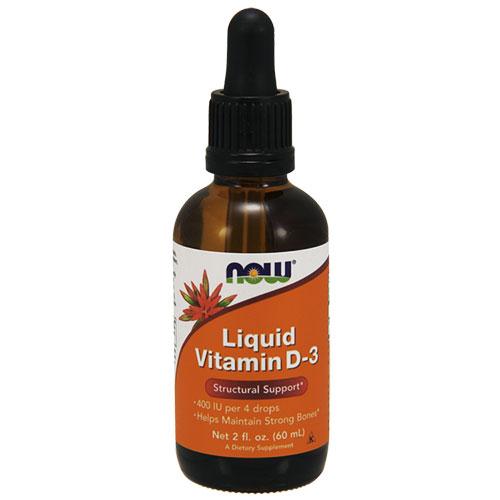 NOW Foods Витамин D-3 (liquid)