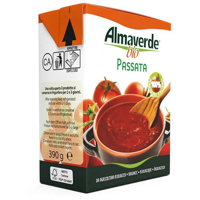 Almaverde Bio Био доматено пюре тетра пак