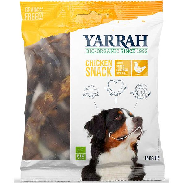 Yarrah Био кучешко лакомство пилешки шийки