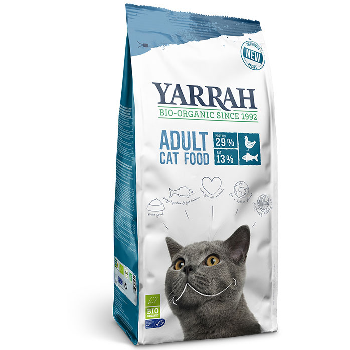 Yarrah Био котешка храна суха adult